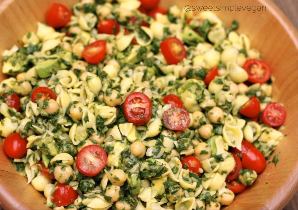 Cilantro Avocado Pasta Salad (GF, Seed Free, Nut Free)