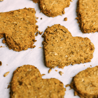 Spent Grain (Oatmeal) Peanut Butter Dog Biscuits
