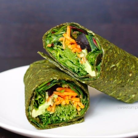 Spirulina Beet Wraps (GF, Raw Option)