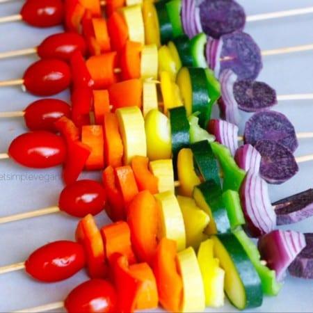 Rainbow Vegetable Skewers