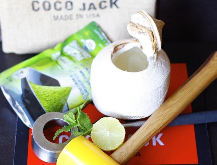 Mint Matcha Coconut Cooler