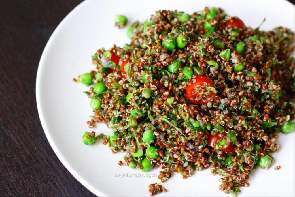 Herbed Quinoa Salad (Low-fat, Oil-free) - Sweet Simple Vegan