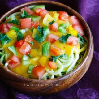 Summer Mango Salad (Low Fat, Raw)