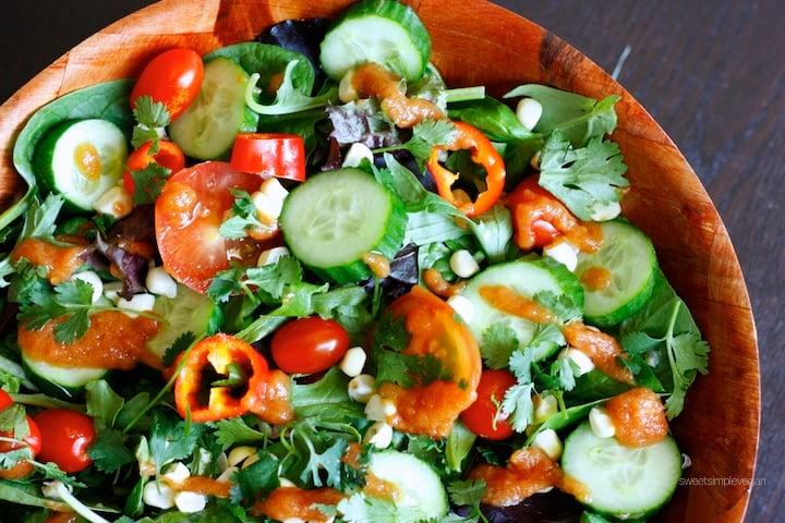 1Raw Spicy Tomato Jalapeño Salad (Oil- & Salt-free)