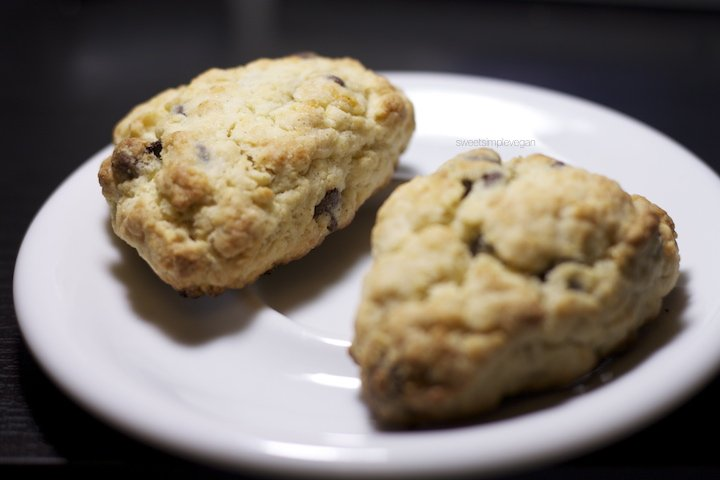 Orange-Zested Chocolate Chip Vegan Scones