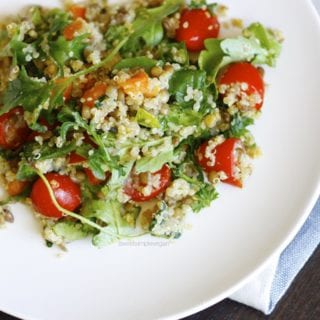 Quinoa, Lentil & Arugula Salad (Oil-free)