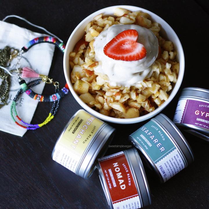 A Healthy Vegan 21st Birthday Celebration: Raw Apple 'Oatmeal' and Banana Nice Cream