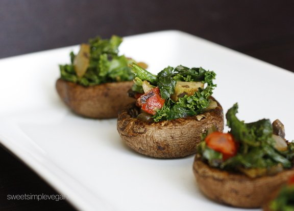 Sweet Simple Vegan: Lunch & Dinner- Miso-Stuffed Portobella Mushrooms