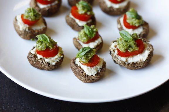Sweet Simple Vegan: Lunch & Dinner: Riccotta and Pesto Stuffed Portobella Mushrooms