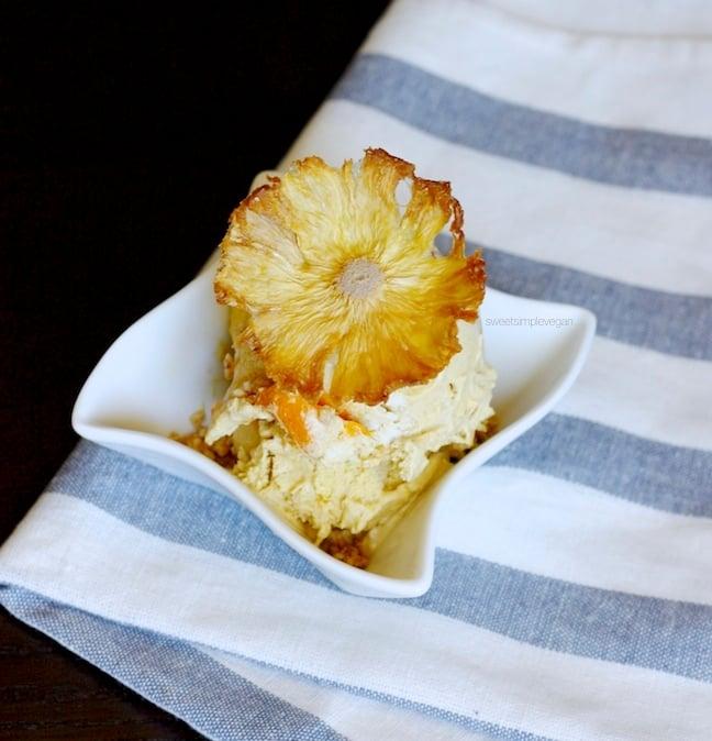 Raw Mango Ice Cream + Homemade Pineapple Flowers5