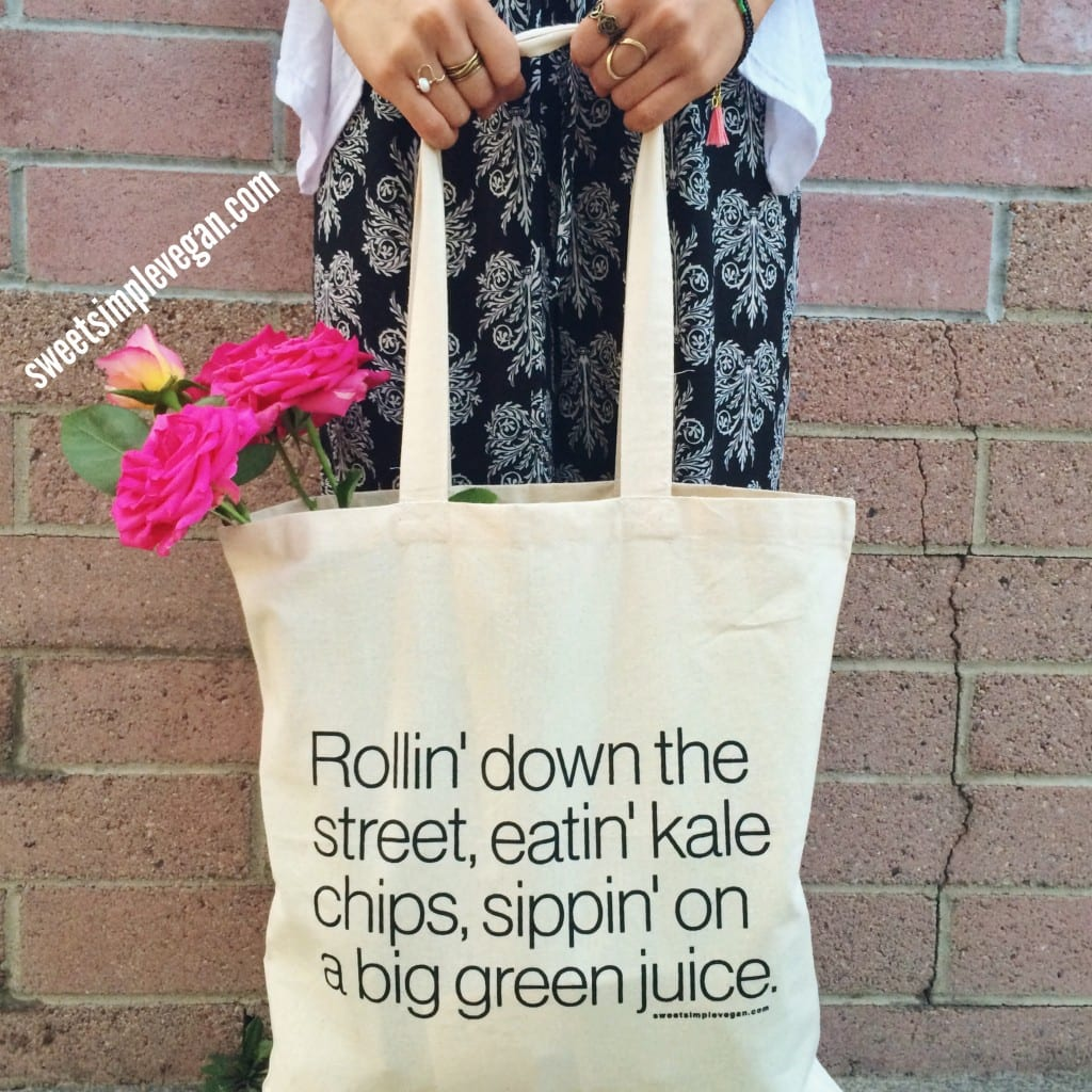 Green Juice Tote Sweetsimplevegan.com