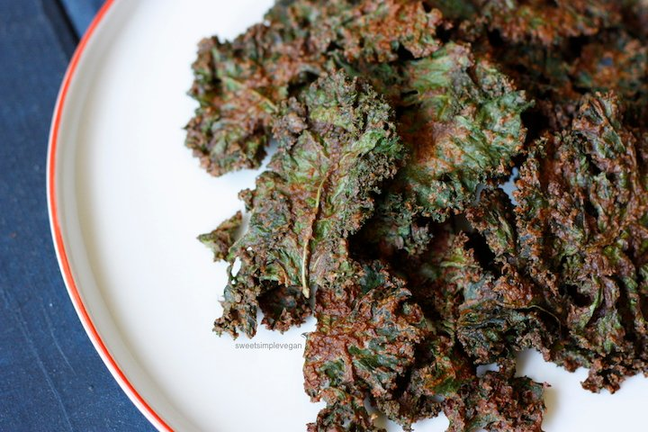 1Baked Chocolate Kale Chips