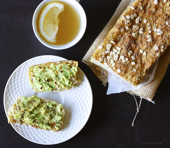 Leftover Lentil Sandwich Bread + Avocado Toast