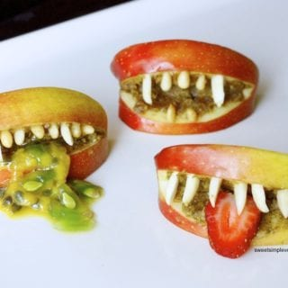 Healthy Halloween Apple Monster Mouths (gf)
