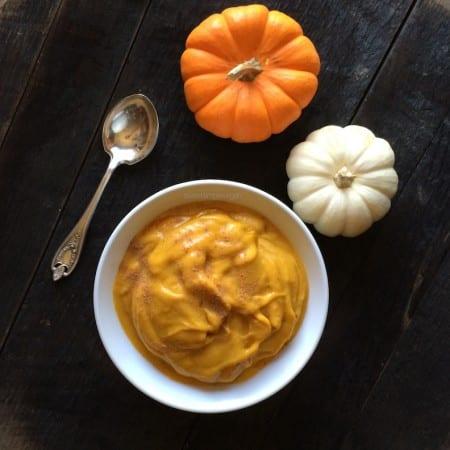 Vegan Pumpkin Pie Soft Serve (fat-free, raw)