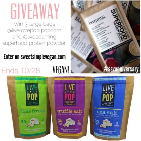 ANNIVERSARY GIVEAWAY SERIES // Live Love Pop & Beaming (CLOSED)