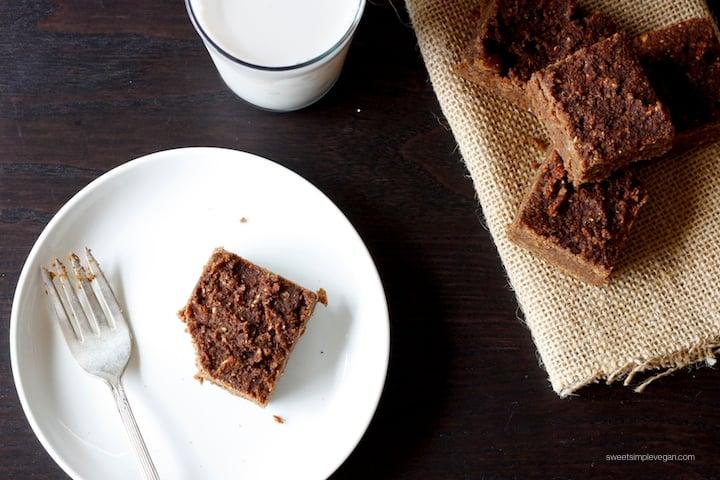 1Vegan Almond Pulp Fudge Brownies (gf)