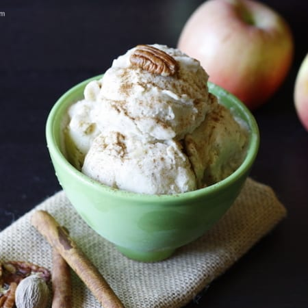 Vegan Apple Pie Ice Cream (raw, low-fat)