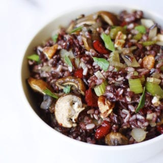 Black Rice Pilaf With Cranberries and Pecans + Veganish Book Review & Giveaway (CLOSED)