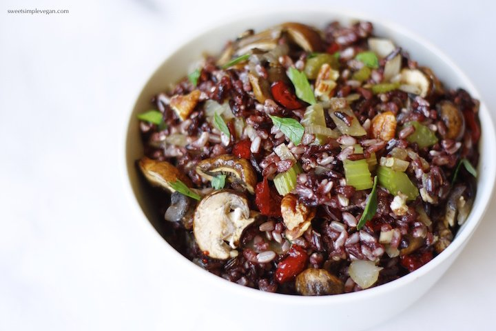 Black Rice Pilaf & Dried Fruit Compote + Veganish Book Review & Giveaway