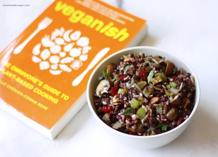 Black Rice Pilaf + Veganish Book Review & Giveaway