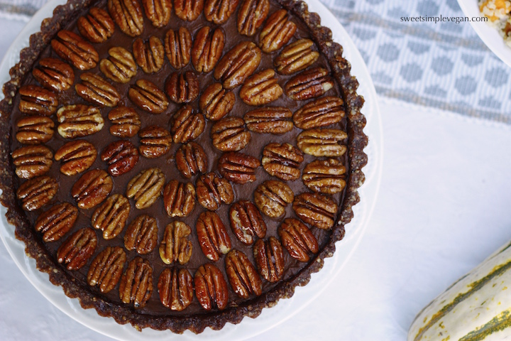 Sweet Potato Chocolate Mousse Pecan Tart