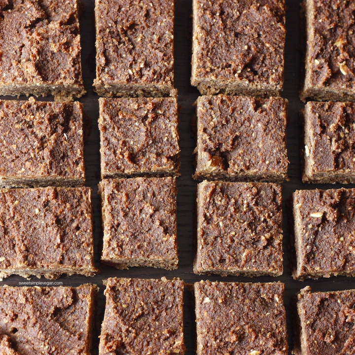 Vegan Almond Pulp Fudge Brownies (gf)