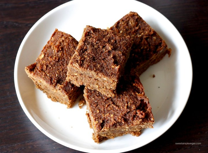 Vegan Almond Pulp Fudge Brownies (gf)