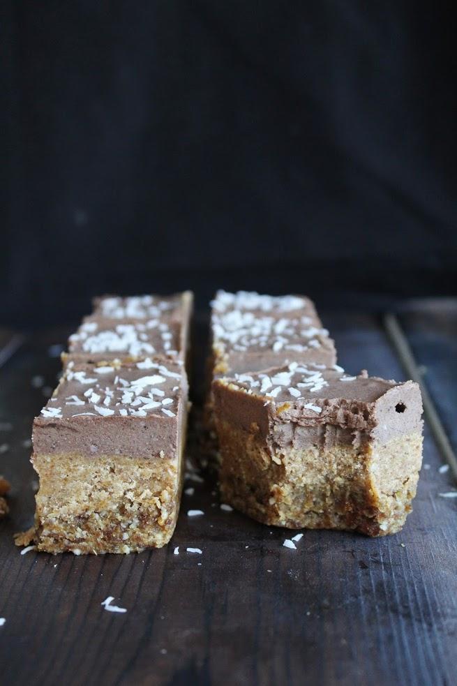 Raw Chocolate Cream Caramel Bars
