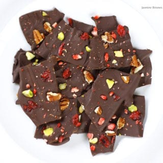 Easy Vegan Holiday Chocolate Bark