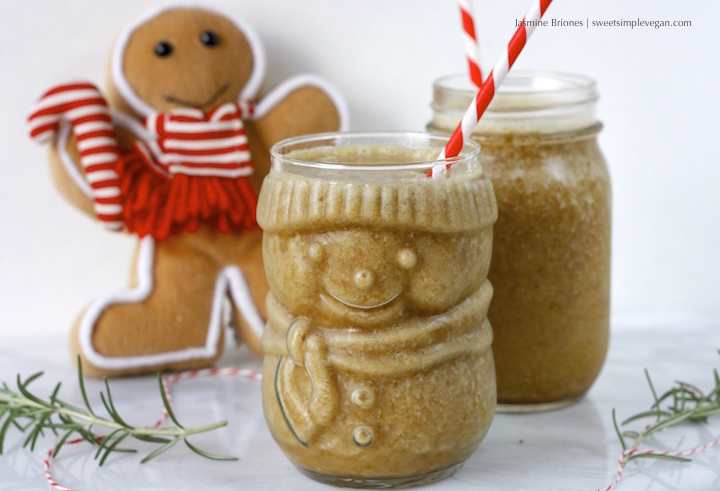 Healthy Vegan Gingerbread Smoothie