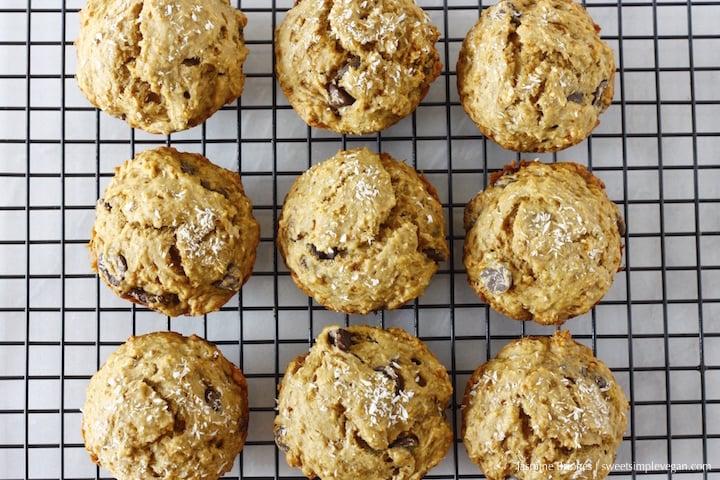 1Banana Coconut Dark Chocolate Chip Muffins