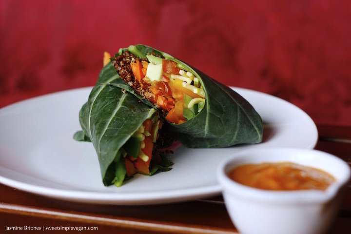 Rainbow Quinoa Collard Wraps