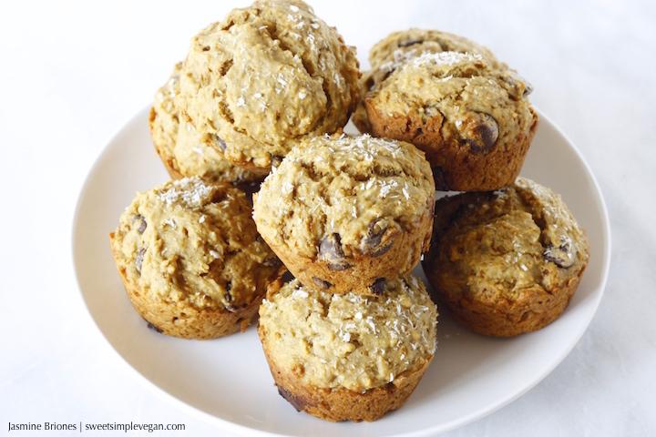 4Banana Coconut Dark Chocolate Chip Muffins