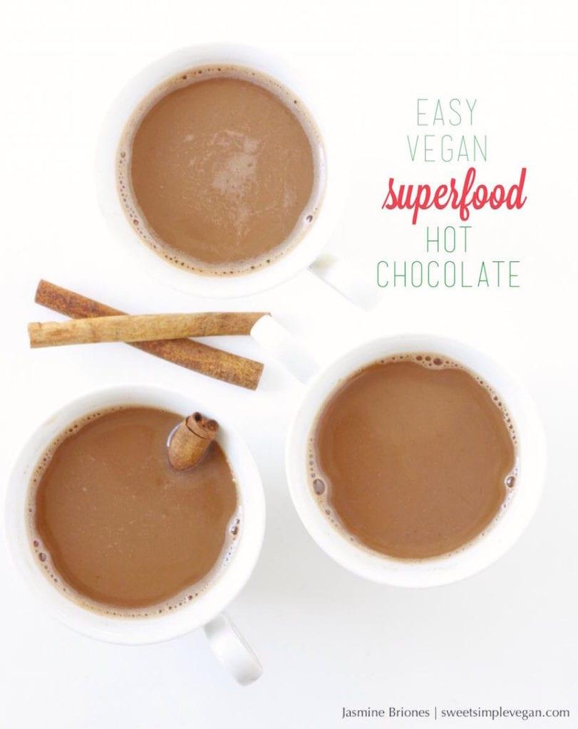 Easy Vegan Superfood Hot Chocolate