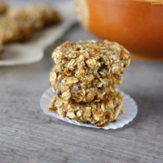 Kumquat Coconut Oatmeal Cookies (gluten-, refined sugar- and oil-free, hclf)