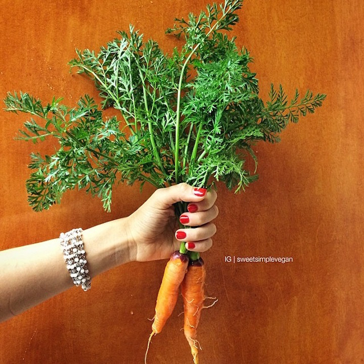 Carrots grown from compost.