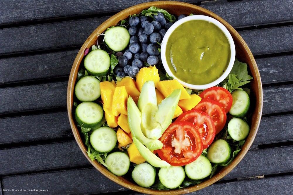 Rainbow Salad Mango Barley Dressing0 2