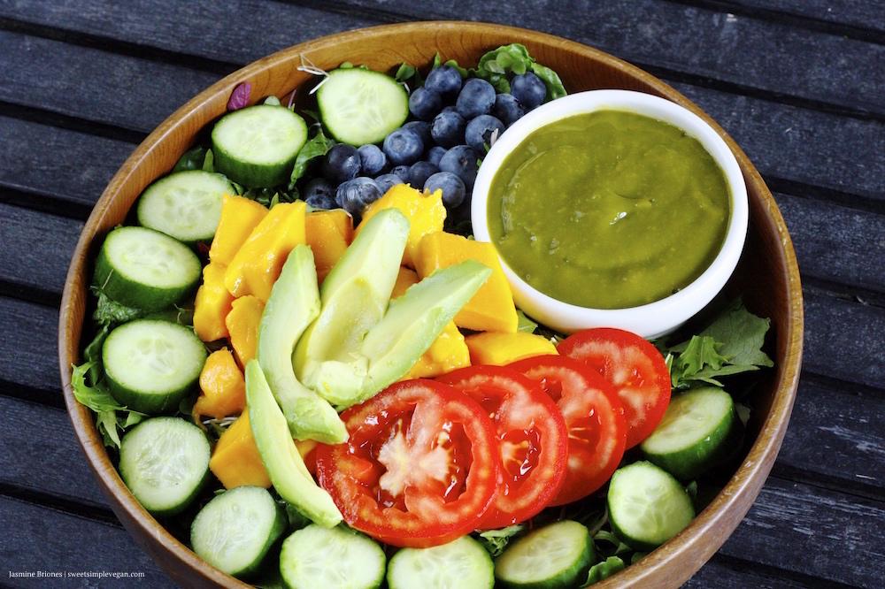 Rainbow Salad Mango Barley Dressing5