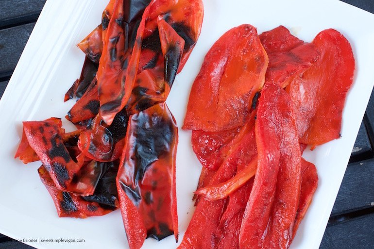 How To Roast Red Peppers! {Oil-free}