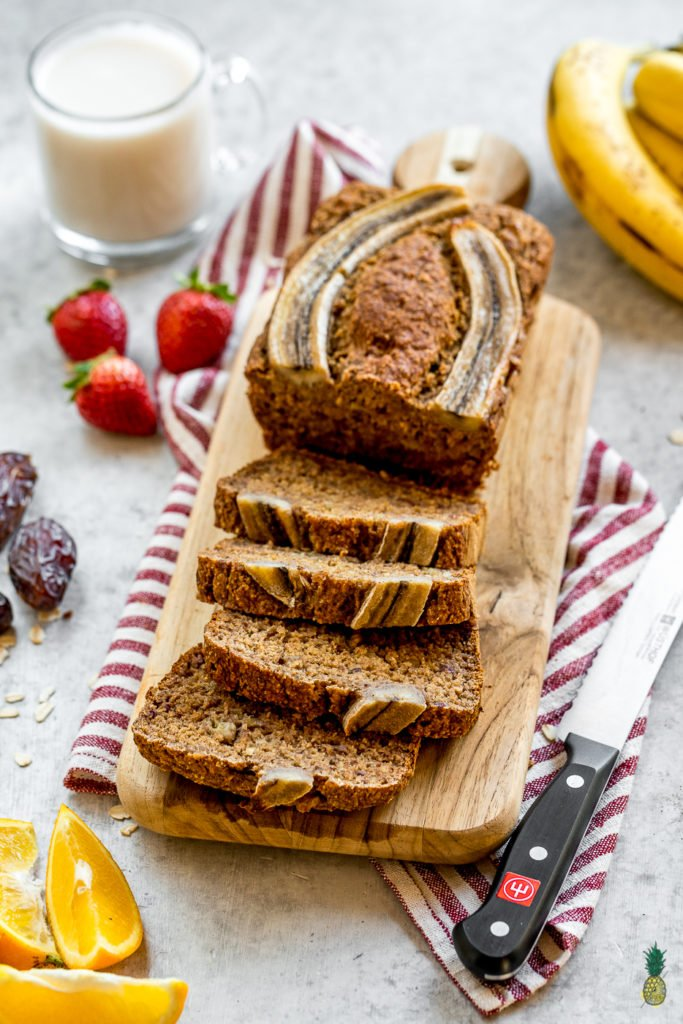 Vegan date sweetened banana bread gluten oil and refined sugar free forumfinder Gallery