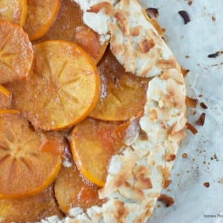 Persimmon Galette w/ Toasted Coconut Covered Crust / Vegan Thanksgiving
