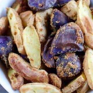 Crispy Oil-Free Noochy Potatoes {hclf vegan}