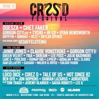 CRSSD Music Festival + Vegan in San Diego, CA