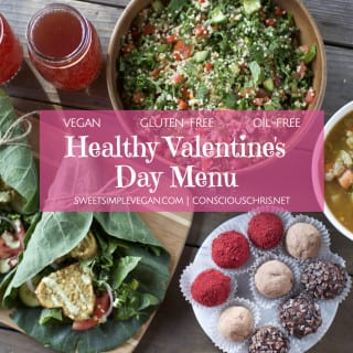 Vegan Valentine's Day Menu {oil-free}