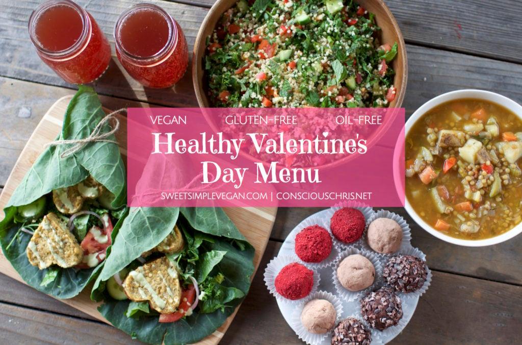 Vegan Valentine's Day Menu {oil-free} sweetsimplevegan.com