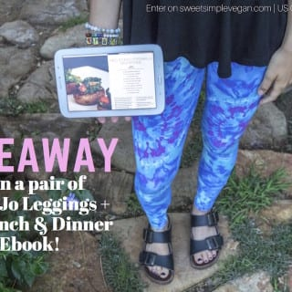 GIVEAWAY: Dona Jo Fitwear Leggings + My Recipe Ebook!