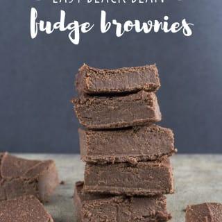 Easy Black Bean Fudge Brownies {high protein, gluten- & oil- and refined sugar-free} sweetsimplevegan.com