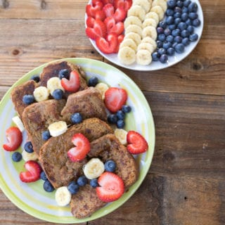 Vegan Banana French Toast {oil-free}
