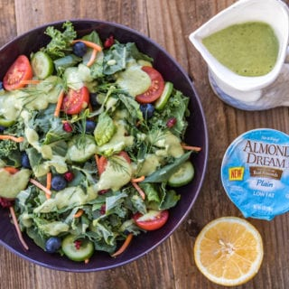 Vegan Avocado Yogurt Ranch Dressing {oil-free}